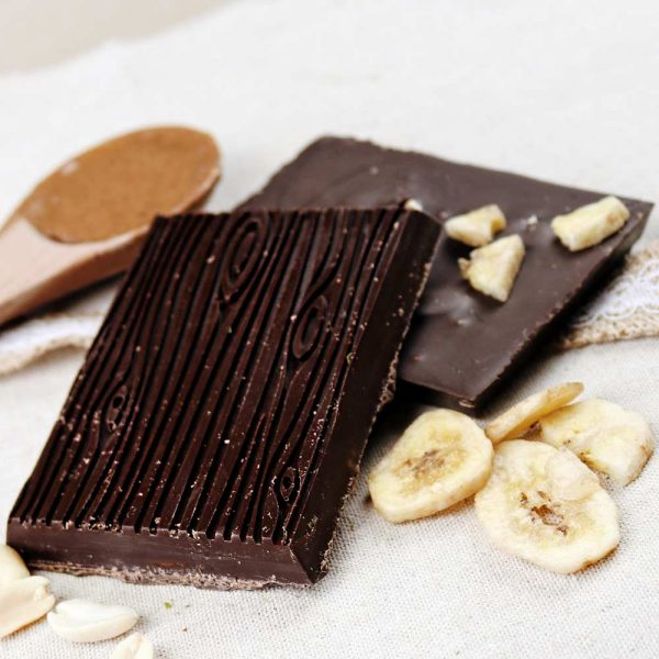 Cheeky Nilla banana peanuts salted caramel vegan dark chocolate