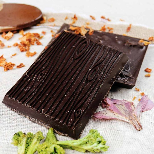 brocolli pumpkin hibiscus vegan dark chocolate