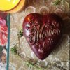 Vegan Dark Chocolate Heart for Mother's Day