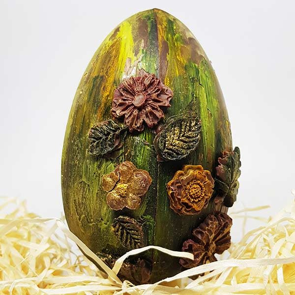 Floral Dark Chocolate Egg 1