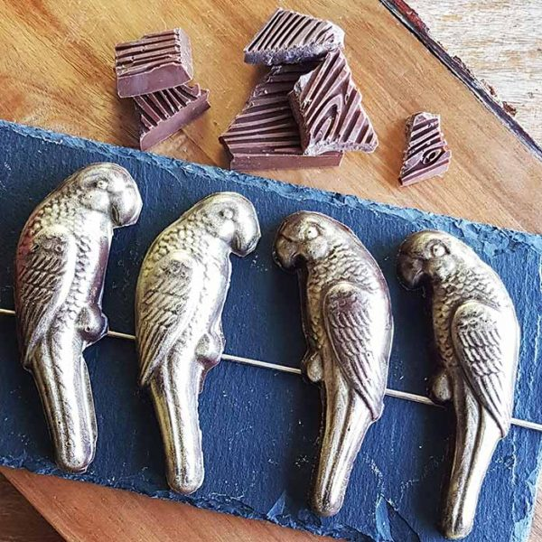Vegan Chocolate parrots